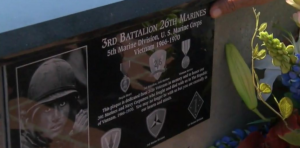 The plaque honoring Rudy Gomez's unit, vietnam veteran news, mack payne