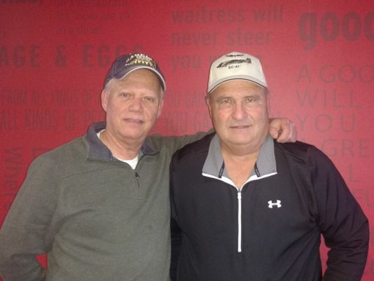 Joe Freedman, from Danby, left, and Joe Giammichele, from Horseheads, vietnam veteran news, mack payne