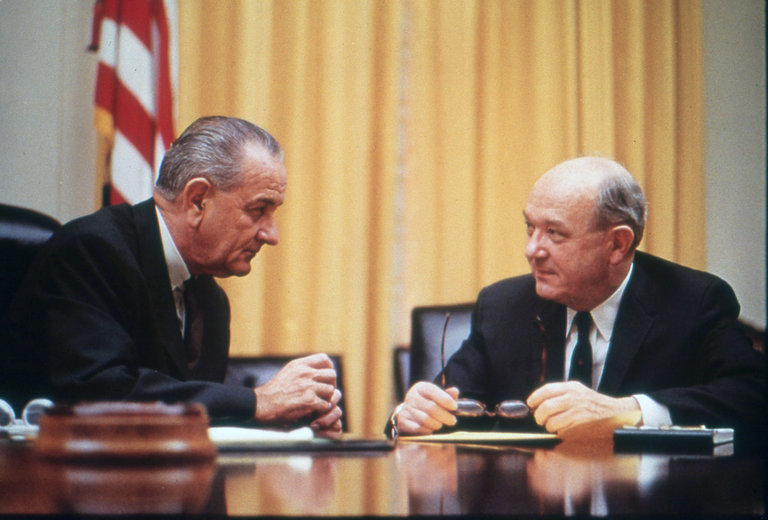 President Lyndon Johnson and Dean Rusk, vietnam veteran news, mack payne