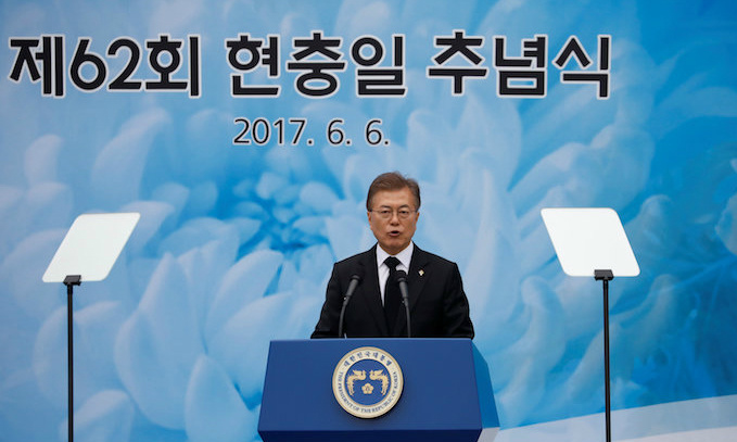South Korean President Moon Jae-in, vietnam veteran news, mack payne