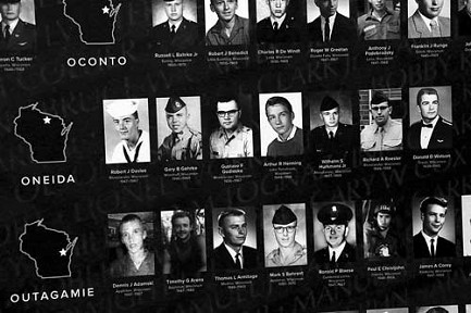 Wisconsin Wall of Faces, vietnam veteran news, mack payne